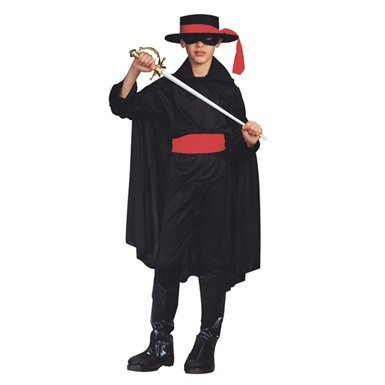 RG Costumes Bandit Costume, Black/Red, -