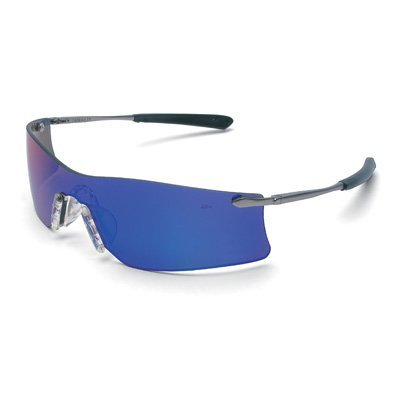 (Crews T411G Rubicon Safety Glasses Emerald Mirror, Lens, 1 Pair by MCR Safety)