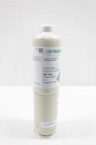 PRAXAIR NI OX4000-D103 Compressed Gas NOS Cylinder 3.6 CU/FT D648205