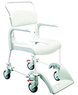 Etac – Ducha con inodoro y silla Clean verde menta 49 cm Alto, de baño
