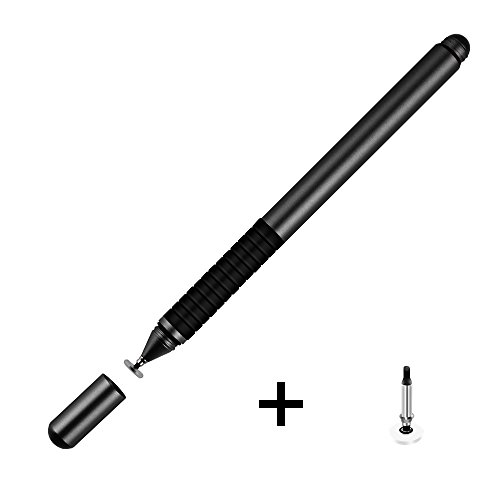 PZOZ Smart Stylus Pen, High Sensitivity & Precision for Digital Pen Universal for Apple Computers Touch Screen Tablet iPad All Smartphones Devices (Black) (Bamboo Stylus Parts)
