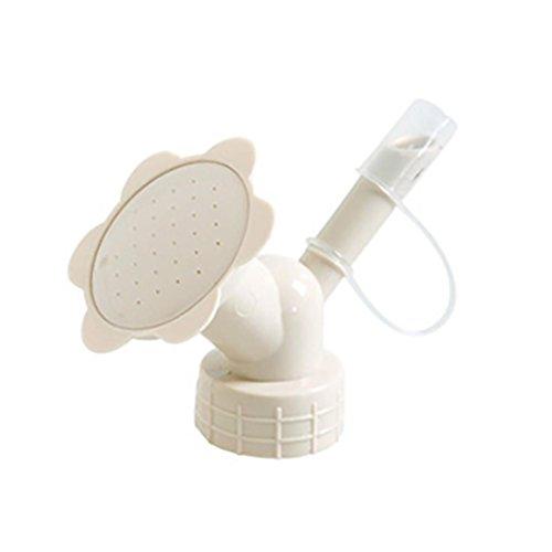 Highpot Dual Head Bottle Watering Spout, Mini Hand Bottle Watering Spout, Bonsai Watering Can Sprinkler Garden Tools (Beige)