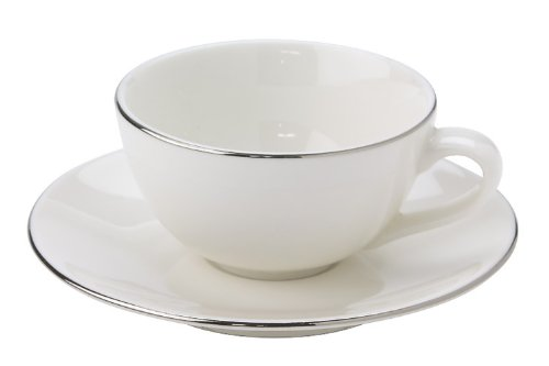 Luzerne glossy demitasse cup and saucer Platinum GS6010PL GS6112PL (japan import) by Luzerne (Ruzan)