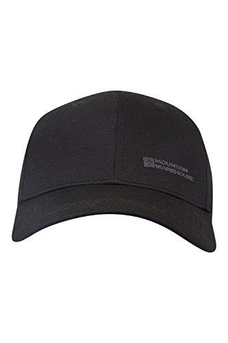 [Mountain Warehouse Cotton Velcro Adjustable Baseball Cap Black] (Pork Pie Hat For Sale)