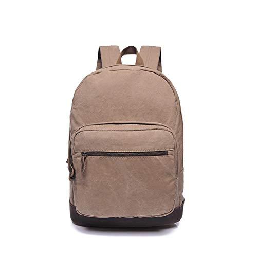 Color Bag color Gray Cremallera Weatly Laptop Hombres mujeres Estudiante Compras Camel Aire Mochila Impermeable Lona Libre Al xgqga7wUp