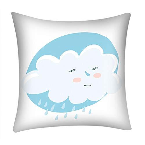 Euone Print Pillow Case Polyester Sofa Car Cushion Cover Home Decor