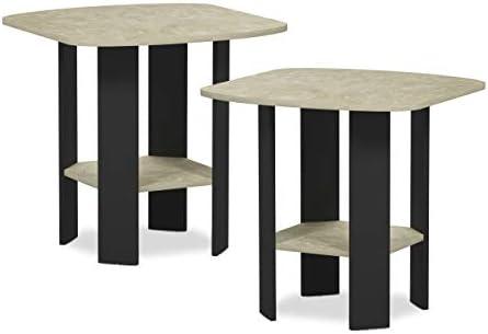 FURINNO Simple Design 2-Pack End Side Table