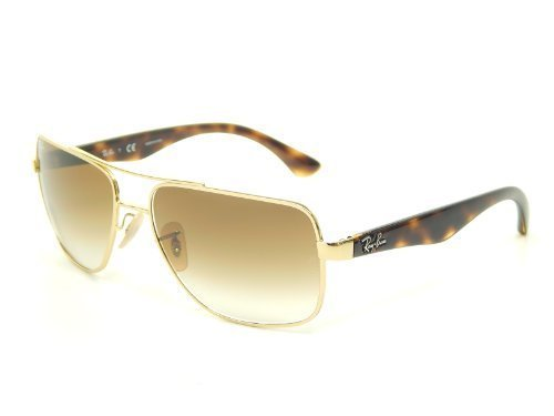 New Ray Ban RB3483 001/51 Arista/Crystal Brown Gradient 60mm - Sunglasses Rb3483