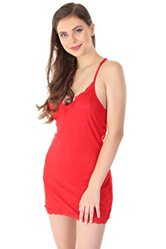 V Long Samiz Full Lace (Size Large) (Red) (Doll Lace A-boo Peek Baby)