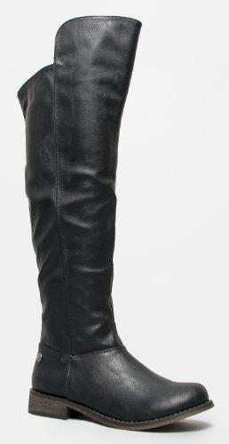 Breeselles Dames Tenesee-17 Rijlaarzen Zwart-nieuw