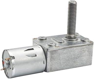 33mm Ausgang Wellen DC 6V 12V 24V 2rpm bis 150 RPM Metallschneckengetriebemotoren 1pc Power-Off Self-Lock High Torque Schneckenradgetriebemotor 8mm NO LOGO WJN-Motor