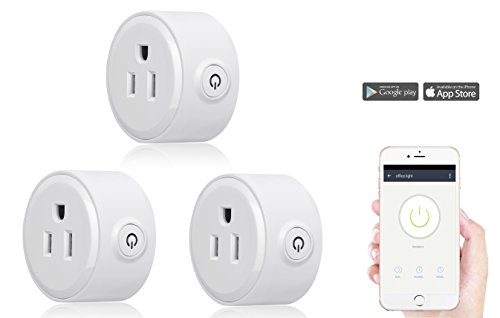 Smart Home Mini Smart Plug by Wasserstein Compatible with Alexa, Wi-fi control all your Devices Wherever you are; No expensive hub required, Simple Plug & Play Socket (3 Pack) by Wasserstein