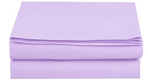 Elegant Comfort  Premium Hotel 1-Piece, Luxury and Softest 1500 Thread Count Egyptian Quality Bedding Flat Sheet, Wrinkle-Free, Stain-Resistant 100% Hypoallergenic, King, Lavender