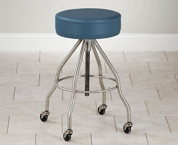 CLINTON STAINLESS STEEL STOOLS Same as SS-2162 w/ upholstered top Item# SS-2172