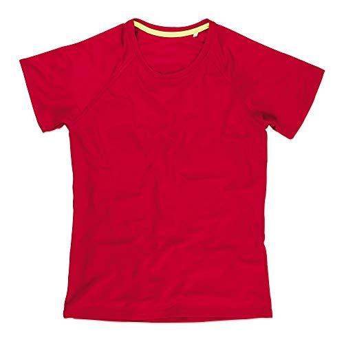 - Stedman Womens/Ladies Raglan Mesh T-Shirt (XL) (Crimson Red)