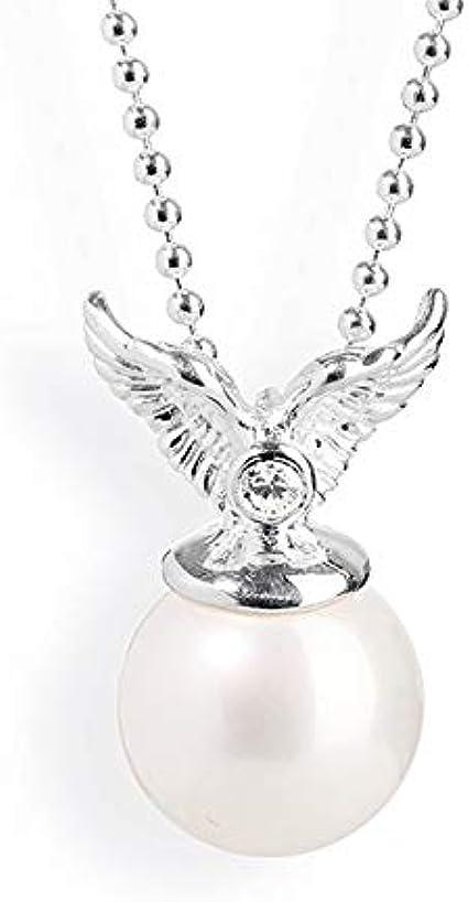 Heartbreaker Colgante de ángel con perla de concha y circonita en plata auténtica, colección Mini's ï Pequeño colgante de perlas con alas de ángel de plata de ley 925