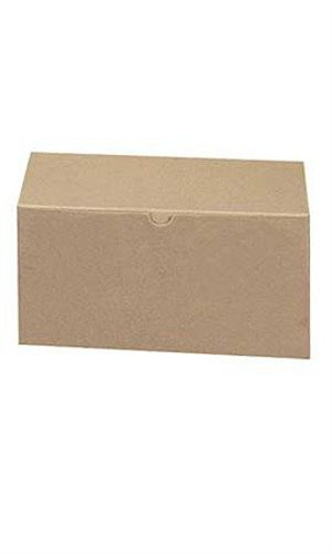 Count of 100 Gift Boxes - Kraft - 85303 with 10''L x 5''W x 4''D
