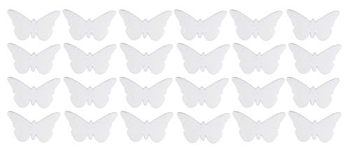 Craft Foam - 12-Pack Butterfly Shaped Foam, Blank Polystyrene Foam, for DIY Crafts, Kids Art Class, Wedding Party Decor, Home Nursery Decoration, School Projects, White, 6.3 x 3.7 x 0.5 Inches -