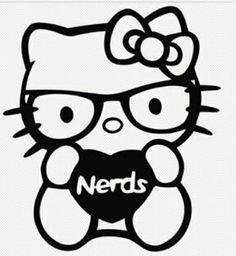 Nerd Hello Kitty - Hello Kitty I Love Nerds PREMIUM