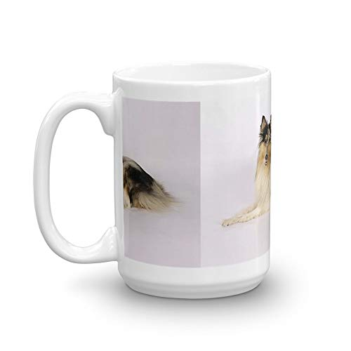 Tyna Ho rough collie blue merle laying Mugs 15 Oz