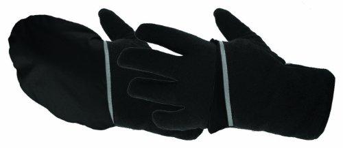 Manzella Men's Hatchback Glove/Mitt (Black, Large) -