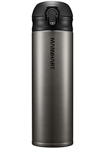 Mannhart, Super Light Weighted 7.48oz Travel Mug, One-Touch Easy Open Drinking, Portable Size 17OZ Insulated Travel Mug, Hot 8H and Cold 24H, Leak Proof Travel Mug, Coffee Travel Mug, B203, 000EH24564