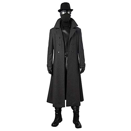 Spider-Man Noir Cosplay Costume Spider Man Into The Spider-Verse Halloween Cosplay Costume for Man -