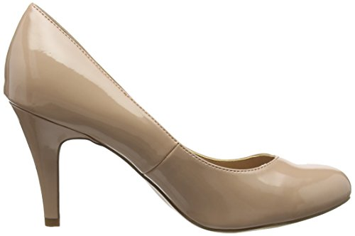 New Foot Look Wide Bout 14 Beige Escarpins Reanna Femme oatmeal Fermé RBORnr