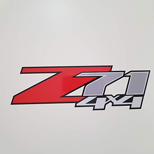 Chevy Silverado Flag Truck Sticker Bedside Bed Panel GOLD HOOK Z71 Decals GMC Sierra