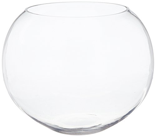 WGV Clear Round Bubble Bowl Glass Vase