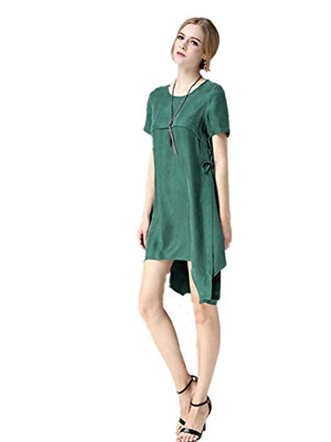 Abito Ed Estate tinta DressGreenScoloreDimensione Fashion primavera a Dress Unita Word Y6y7bfg