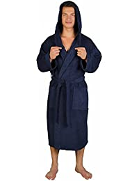 Men's Classic Hooded Bathrobe Turkish Cotton Terry Cloth Robe