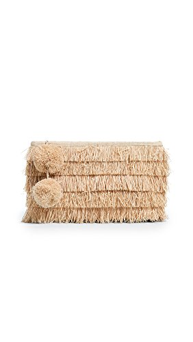 Mar Y Sol Women's Sasha Fringe Clutch, Natural, One Size by Mar Y Sol