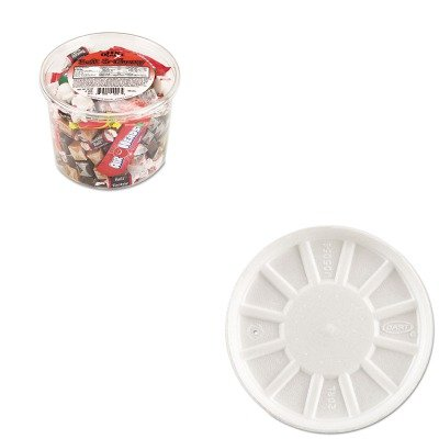 KITDRC20RLOFX00013 - Value Kit - Dart Vented Foam Lids (DRC20RL) and Office Snax Soft amp;amp; Chewy Mix - Dart Vented Lid