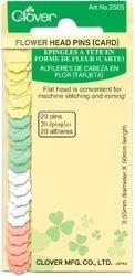Clover Needlecrafts Bulk Buy Flower Head Pins 20 Pack Q2505 (6-Pack) by CLOVER