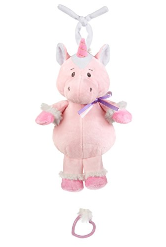 - Ganz Sweet Iris Unicorn Ribbon Soft Pink 7 x 10 Plush Infant Musical Pulldown Toy