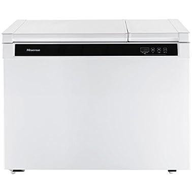 Hisense FD90D6AWD Dual Zone Chest Freezer, 9 cu. ft., White
