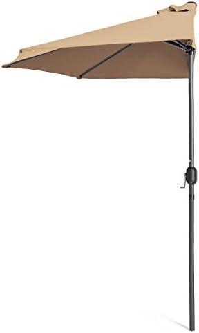 Best Choice Products 9ft Steel Half Patio Umbrella