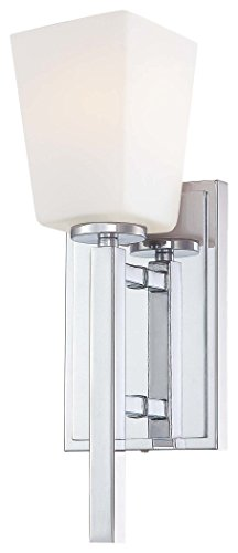 Minka Lavery 6540-77, City Square Torchiere Glass Wall Sconce Lighting, 1 Light, (Minka Lavery Torchiere)