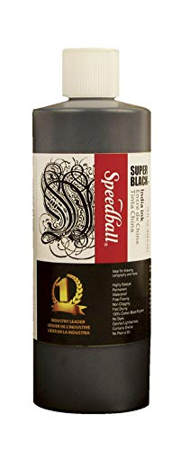 Speedball Super Black India Ink, 1 Pint