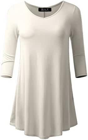 Because I Love You Women's 3/4 Sleeve Tunic Made in USA