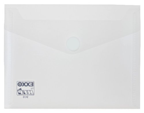 Borsa portadocumenti con chiusura in velcro EXXO by HFP A6 orizzontale 10 pcs 160 x 120 millimetri trasparente verde