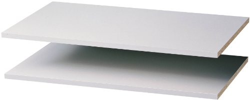 Easy Track RS1436ON 2 Count Closet Shelves, 35-Inch, White (Track Easy White)