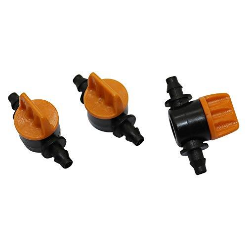 Kammas 100Pcs 4/7mm Miniature Valves Waterstop Hose End Connectors Homebrew Garden Irrigation Switch Coupling Barbed Slotted Hose Valve - (Diameter: Miniature valves)