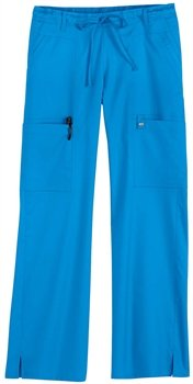 Cherokee 21100 Women's Jr Fit Luxe Drawstring Pant Jasper Bleu Small ()