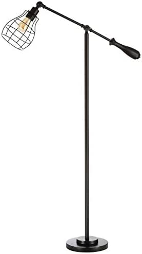 Safavieh FLL4061A Lighting Brice Industrial Black 60-inch LED Bulb Included Floor Lamp