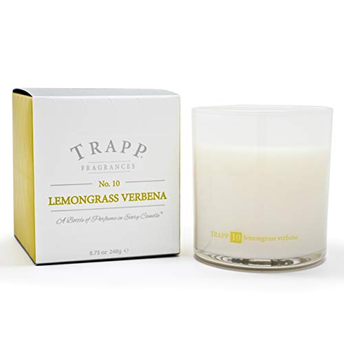 Trapp Ambiance Collection No. 10 Lemongrass Verbena Poured Scented Candle, 8.75 Ounces