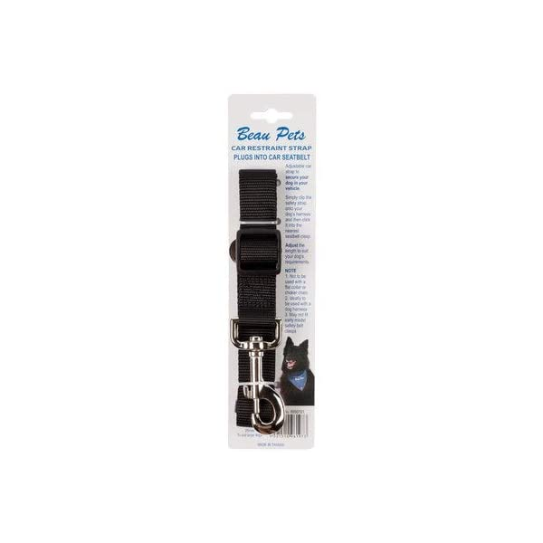 Beau Pets Car Restraint Strap with Snap Hook, Click on image for further info.