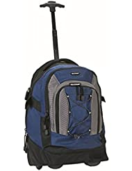 Rockland Luggage 19 Inch Rolling Backpack, Navy, One Size