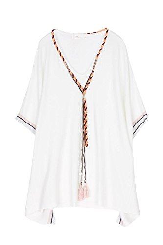 CHERRY PARIS - Jerséi - vestido - Cuello redondo - Manga Larga - para mujer crudo